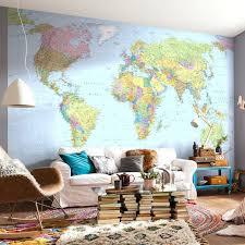 Wall Ideas World Map Wall Mural Vinyl Decal World Map Mural Ikea