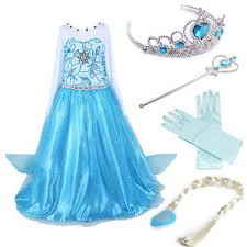frozen costume disney elsa frozen dress costume princess party dresses