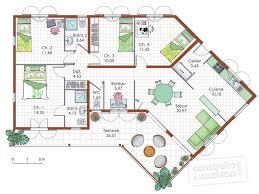 plan de maison de plain pied avec 4 chambres chambre plan maison plain pied 4 chambres inspiration plan de