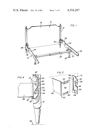 patent us4354287 bed frame with adjustable headboard engager or