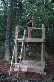 Backyard Zip Line Ideas 243 Best Treehouses Images On Pinterest The Tree Rope Bridge