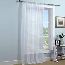 Curtain Pole Dunelm White Sheer Elegance Voile Panel Dunelm