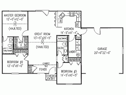 3 bedroom ranch house floor plans 3 bedroom ranch floor plans level 1 view expanded size home