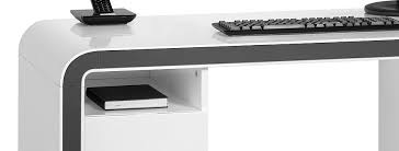 bureau gris laqué bureau laqué blanc table d ordinateur lepolyglotte