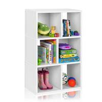 3 shelf cubby bookcase in white formaldehyde free way basics