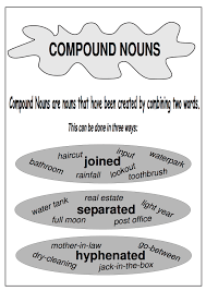 compound nouns print out a free compound worksheet and link to
