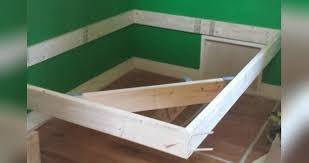 Floating Dog Bed Man Builds An Easy Bed Frame To Make An Incredible Diy Floating Bed