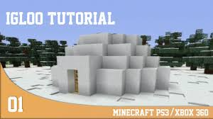 Igloo by Build Ideas Minecraft Ps3 Xbox 360 Igloo Tutorial Youtube