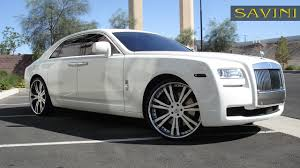 rolls royce chrome ghost savini wheels