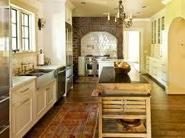 design stunning country kitchen design faux brick decorative