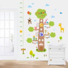 popular wall decal growth chart buy cheap cartoon tree monkey giraffe wall stickers height sticker kids room nursery home decor vinyl