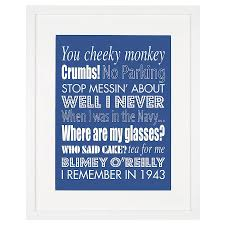 personalised family sayings print by modo creative