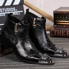 Comfortable Western Boots Genuine Leather Men U0027s Shoes Cowboy Boots Rock Boots Mens Ankle