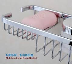 bathroom shoo holder soap basket shower shelf with sponge holder hotel bathroom
