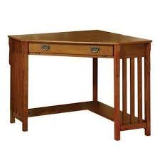 Corner Oak Desk Corner Oak Desks Home Office Furniture The Home Depot