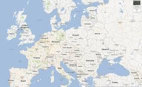 Map Of European Countries Google Maps Europe Map Of Europe Countries At Google Of