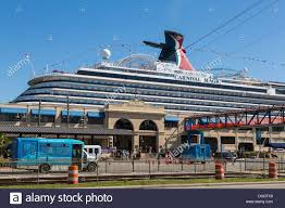 carnival magic cruise ship docked at galveston usa stock