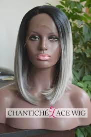 pictures of womens short dark hair with grey streaks women s short bob ombre dark roots gray synthetic hair lace front
