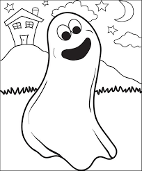 draw halloween ghost step step scary ghost coloring