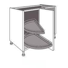dimension meuble d angle cuisine meuble de cuisine d angle bas 2 plateaux demi lune twist demi