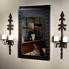 Flameless Candle Wall Sconce Set 2 Sconce Metal Candle Holder With Spike Wrought Iron Candle Wall