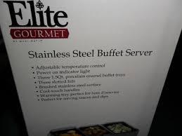 Stainless Steel Buffet Trays by Ewm 109 Elite Gourmet 3 Tray Stainless Steel Buffet Server Warming