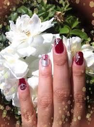 imagenes de uñas decoradas con konad diseño de uñas rojo y plata no konad youtube