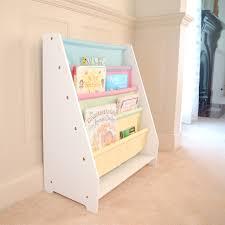 white kids bookcase all 4 kids white kids wooden canvas sling magazine bookcase