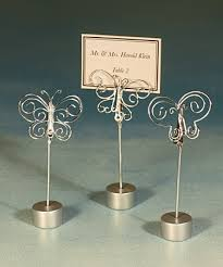 photo holder silver butterfly card picture holder with base