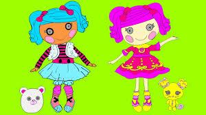 lalaloopsy coloring for kids lalaloopsy baby coloring youtube