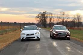 lexus vs mercedes sedan new u0026 old hyundai genesis vs lexus gs350 u2013 limited slip blog