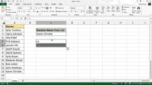 pick a name at random from a list excel formula youtube