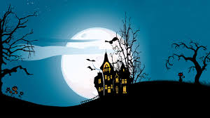 photos bats halloween moon night houses holidays vector graphics