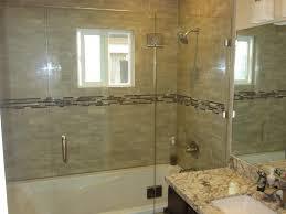 frameless glass shower doors over tub sliding shower door alternative patriot glass and mirror san