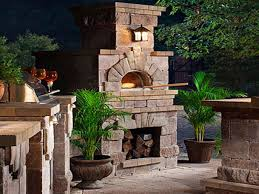 kitchens with brick walls outdoor fireplace pizza oven outdoor