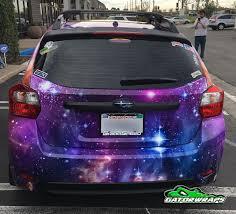 galaxy car galaxy subaru full wrap gator wraps