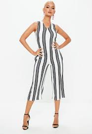 white sleeveless jumpsuit culotte jumpsuits s cropped jumpsuits missguided