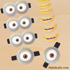 printable despicable 2 minion goggles mouths