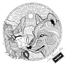 native wolf coloring activity therapy pinterest wolf