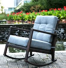 Outdoor Glider Rocker by Merax Cushioned Rattan Rocker Chair Rocking Armchair Chair Outdoor
