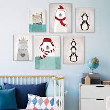 Kawaii Room Decorating Ideas by Modern Nordic Kawaii Bear Hippo Bird Animal A4 Art Prints Poster