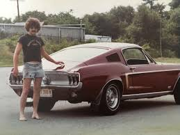 70s mustang came across this photo of my in the 70 s with his mustang and