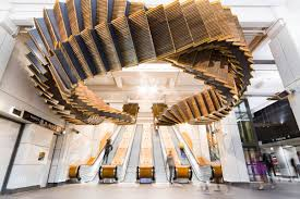 historic sydney wooden escalators become eye popping sculpture