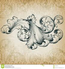 vector vintage baroque floral scroll pattern download from over