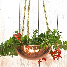 modern hanging planters copper planters