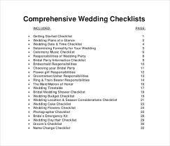 wedding planning list 13 wedding list templates free sle exle format