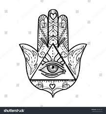 royalty free vector drawing of a hamsa talisman 497742187