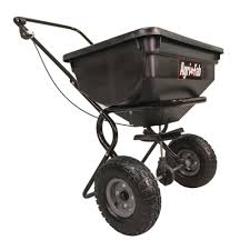 agri fab 85 lb push broadcast spreader 45 0388 the home depot