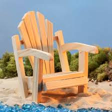 Miniature Adirondack Chair Mini Wood Adirondack Chair Doll Accessories Doll Making