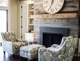 modern interior design and decorating with vintage salvaged wood